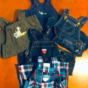Lot of Baby Boy Newborn Overalls